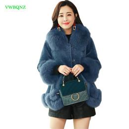 Tesouras grandes on-line-Mulheres casaco De Lã Feminino Imitação de ovinos casaco de corte Outono Inverno Novo Coreano do manto gola de pele grande Magro Sobretudo A1046
