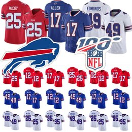 Lesean mccoy jersey di calcio online-17 Josh Allen Buffalo 91 Oliver 12 Jim Kelly Tremaine Edmunds Bills Jersey Thurman Thomas 25 LeSean McCoy 95 Kyle Williams