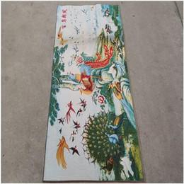 peintures de phénix Promotion Des centaines d'oiseaux, phénix, soie ancienne chinoise, Thangka, peintures suspendues, peinture de broderie 150x60cm