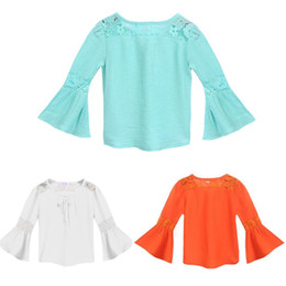 Camiseta sin mangas con encaje de manga angosta con o-cuello para niña de niños Camiseta linda Nueva camiseta para niños desde fabricantes