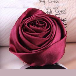 pino de flor de tecido vermelho Desconto 9 Estilos de Tecido Pano de Arte Tecido Rosa Vermelha Flor Broche Pinos Terno Corsage Collar Casaco Pinos Do Vintage Casamentos Partido Banquete Broche