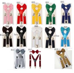 Adolescente Suspensórios Bowtie Set Crianças Estudante Ajustável Elastic X-Band Alças Fortes Crianças Bow-tie Suspender Terno Doces Correias A21507 de