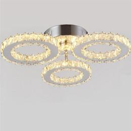 Plafoniera moderna in acciaio inossidabile a 3 luci a LED in cristallo K9 plafoniere per apparecchi da cucina per sala da pranzo da