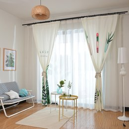 2019 cortina estilos plissados Cortinas de sombra Nordic vaso de impressão para sala de jantar sala de estar.