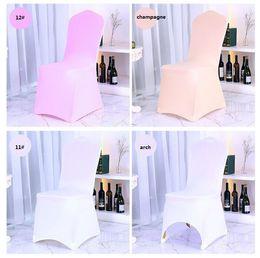 caixas alaranjadas da cadeira do casamento Desconto Barato branco spandex tampa da cadeira para banquete de casamento boa qualidade tampa da cadeira de casamento simples lycra tampa da cadeira universal
