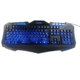 Teclado de letras online-Ruso Retroiluminado Iluminar Gaming Keyboard Fighting Nation Rusia Diseño Carta Computadora Usb Wired Led Retroiluminación Juego Gamer T190627