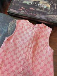 Faldas occidentales princesa online-Vestido de algodón puro para niña 2019 Patrón de verano Diseñador de lujo Ropa para niños Estilo occidental Princesa en falda para niños wanziqianhong1