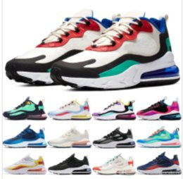 Bright color running shoes on-line-2020 nike air max 270 react Phantom multi color sneakers men women bauhaus optical black blue empty summit white running shoes high quality outdoor trainers designer shoes