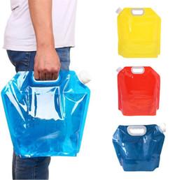 2019 bolsas de agua 5L Plegable Plegable Al Aire Libre Plegable Plegable Bolsa de Agua de Coche Contenedor Portador de Agua para Acampar al aire libre Senderismo Picnic BBQ 200pcs T1I1582 rebajas bolsas de agua