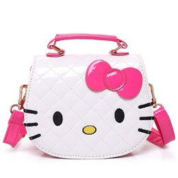 bc61f6553d1b Hot Fashion Hello Kitty Bow Messenger Bag For Girls PU Leather Crossbody Shoulder  Bag Handbags Flap Bags High Quality