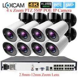 caméra onvif 5mp Promotion H.265 16CH 5MP POE NVR Système 8Pcs Super 5MP 4 X Zoom 2.8-12mm de sécurité extérieure POE IP Caméra Système de Surveillance Vidéo Onvif 4K