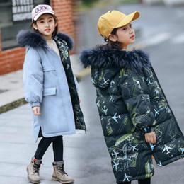 2019 crianças vestindo roupas quentes Roupa das meninas quente Para baixo a jaqueta para a roupa da menina Desgaste em ambos os lados caçoa para baixo o revestimento Roupa da criança Outerwear grosso crianças vestindo roupas quentes barato