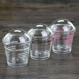 copos de sobremesa Desconto Food-grade De Plástico 8.6 * 5.5 * 7.8 cm Bolo de Tiramisu Lebei Sobremesa Pudim De Mousse de Sorvete Copos Com Tampa Molde