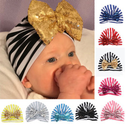 03d764094b1 Chrismas Hat Head Wraps Cap Striped Cute Fashion Newborn Baby Girls Kids  Floral Bowknot