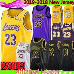 ea21524ed James Lakers Jersey New 23 LeBron   James 2 Lonzo   Ball 0 Kyle   Kuzma  Brandon 14 Ingram 24 Bryant 8 Basketball Jerseys S-XXL