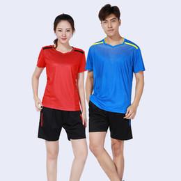 abiti da badminton Sconti Adsmoney poliestere badminton traspirante + pantaloncini, tuta da uomo donna badminton, tenis masculino, abbigliamento sportivo da squadra,