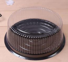 contenedores de queso Rebajas Caja de pastel redonda grande / caja de queso de 8 pulgadas / recipiente de pastel de plástico transparente / soporte de pastel grande Envío gratis zhao