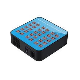 lámpara qi Rebajas Inteligente de 60 puertos USB Hub Estación de carga Toma de corriente Velocidad de múltiples puertos Cargador de pared Adaptador de cargador de muelle