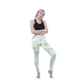 skinny girl wearing leggings Coupons - Lady Leggings Sweet Candy Cyan 3D Graphic Full Printed Skinny Yoga Wear Pants Girl Stretchy Pencil Fit Women Comfortable Jeggings (Y52243)