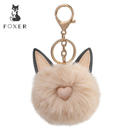foxer brand handbags Promo Codes - Foxer Brand Plush Pendant & Keychain Hanging Ornament Lightweight Organizers for Handbag Car Keychain Fur Pendant