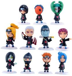 2019 decorazioni naruto Naruto Q Edition Anime Action Figures Giocattoli collezione Cartoon modello PVC Desktop Decoration 11pcs / set MMA1486 sconti decorazioni naruto