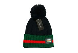 9160000a2d2 2019 winter fashion men and women wool hat warm knitted hat letter pattern  casual hat