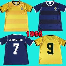 Camiseta de futbol de escocia online-1986 Camisetas de fútbol de Scotland Retro soccer jersey football shirt 1986 World cup camisa clásica Colección de chandal de fútbol STACHAN SOUNESS McSTAY