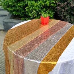 Roupa de decoração de lantejoulas on-line-Pano de tabela agradável Praça tabela cobrir muito para Tabelas Decoração do casamento do partido dos Sequins Tabela Vestuário de casamento Toalha de Mesa Home Textile