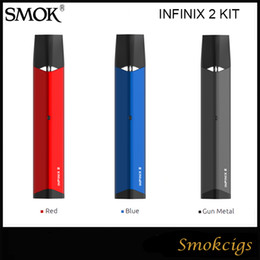 red stick pen Promo Codes - Original SMOK Infinix 2 Kit Anti-Leaking 450mah Battery with 2ml infinix Pod Vaping E Cigarette Mini Stick Vape Pen VS NOVO