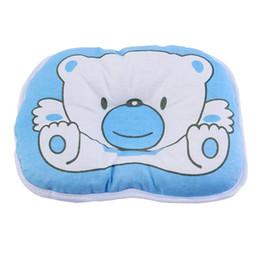 Almohada de cabeza de oso online-Mambobaby Cartoon Cute Bear Soft Almohada Recién Nacido Bebé Apoyo Cojín Almohadilla Previene Cabeza Plana