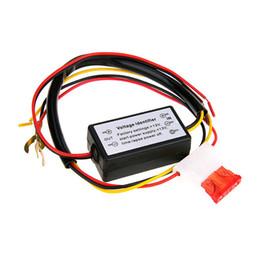 Auto dim on-line-DRL Controlador Auto Car LED Luzes de Circulação Diurna Controlador de Relé Harness Dimmer On / Off 12-18 V Controlador de Luz de Nevoeiro