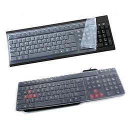 2019 teclados de cine Cubierta universal de silicona para computadora de escritorio Teclado Protector de piel Cubierta de película T190619 teclados de cine baratos
