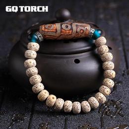 2019 joyería tibetana original Ashion Jewelry Bracelets Pulseras auténticas naturales de semillas de Bodhi Pulseras con cuentas Dzi Evil Eye para mujeres Vintage Tibetan Silver Original De ... rebajas joyería tibetana original