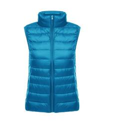 Argentina 2019 nuevo invierno para mujer blanco pato abajo chaleco chaquetas abrigos al aire libre informal a prueba de viento nieve caliente negro rosa tamaño S-XXXL envío gratis Suministro