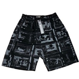 2019 impresiones enmarcadas en negro 2019 Summer Fashion Brand CAVEMPT FRAME SHORTS ESTAMPADOS Pantalones cortos de playa para hombre Negro CE Sport Shorts rebajas impresiones enmarcadas en negro