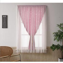 2019 cortina estilos plissados Conveniente Cortina Cortina Mágica Sombreamento Princesa Do Vento Quarto No-perfuração de Instalação + Alta Sombreamento