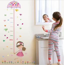 Çocuklar Ev Odası Dekor Karikatür Kız Şemsiye Yükseklik Grafik Duvar Sticker Sanat Vinil Duvar Sticker nereden