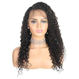 Preços perucas curly on-line-Ishow Cabelo Brasileiro Onda Profunda Em Linha Reta Perucas de Cabelo Humano Kinky Curly 4 * 4 Perucas Dianteiras Do Laço Onda Do Corpo Para As Mulheres Negras preço de atacado