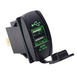 2019 24v usb Водонепроницаемый Dual USB Порт Автомобильное Зарядное Устройство Адаптер Пыленепроницаемый 5 В 3.1A 12 В 24 В Универсальное Автомобильное Зарядное Устройство Разъем для Citroen Honda Toyota Motor дешево 24v usb