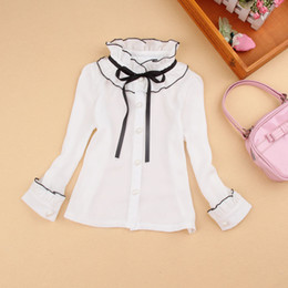 Argentina Child Shirts For Girls Blouse 2017 Spring Kids Shirts Children Cothing Cute Bow School Blouses Girls Clothes White Blusas 2-16Y Suministro