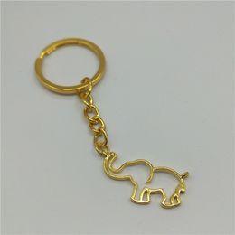 keychain do elefante do ouro Desconto Hot Trendy Cadeia de Ouro Origami Elefante keychain Para As Mulheres Jóias Góticas Collares De Moda