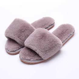 Frauen Fur Slippers Winterschuhe Big Size Home Hausschuhe Plüsch Pantufa Frauen Indoor Warm Fluffy terlik Cotton Schuhe von Fabrikanten
