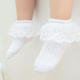 Abbigliamento e accessori Gorgeous RAGAZZE Frilly Calzini Bianco Small Bianco Perla Fiocchi Pizzo Trim
