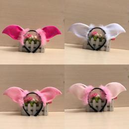 bandeau d'oreille rose Promotion Mignon Animal Cochon Oreille Bandeau Doux Moelleux Cerceau De Cheveux Pour Les Garçons Et Les Filles Habille Des Fournitures Rose 4wb BB