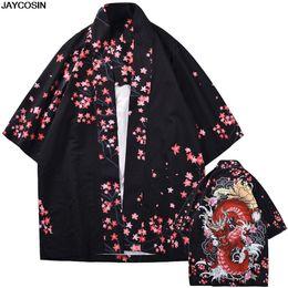 Argentina KLV Kimono para hombre Blusas verano Button Up Moda Individualidad Impresión Tops Blusas Kimono Primavera Ropa Mujer Cardigan 9418 cheap xl mens kimonos Suministro