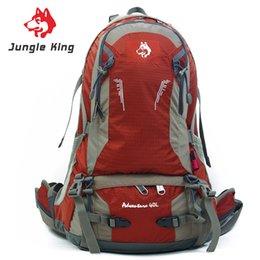mochila profesional escalada Rebajas Jungle King Nueva marca bolsa de montañismo profesional al aire libre paquete de escalada mochila de viaje hombres y mujeres mochila de montar 40L