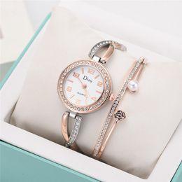 Перламутровые часы онлайн-Womens Watches Top  Lady Temperament Watch Rose Pearl Bracelet Set Chain Watch Montres Femmes 2019 Birthday Gift