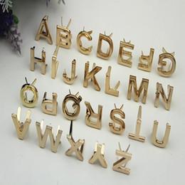 Yeni Metal 26 Mektupları Toka Çanta Ayakkabı Çanta Dekoratif Düğme Bagaj DIY El Sanatları Aksesuar BA362 için nereden ayı broş tedarikçiler