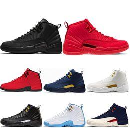 new product 49165 c6382 Air Jordan Retro 12 AJ12 Nike Shoes Winterized WNTR 12 12s Herren Basketball -Schuhe Gym Red Bulls Wings Michigan TAXI French Blue Playoffs Schwarze ...