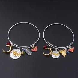 2019 pergunto encantos mulher Mulher maravilha pulseiras Bangle Cuff Wristbans ajustável com Wonder Woman Badge headband encantos moda jóias para mulheres DROP SHIP desconto pergunto encantos mulher